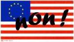 image stop tafta drapeaux EU USA