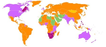 carte mondiale des systèmes juridiques source wikipédia